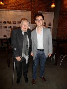 With Oscar and Palm d'Or filmmaker Andrzej Wajda, Kraków, 2014